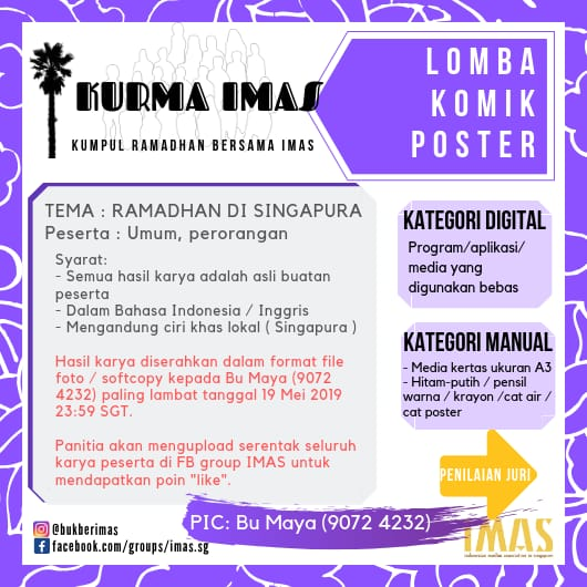 L Komik Poster Imas Indonesian Muslim Association In Singapore